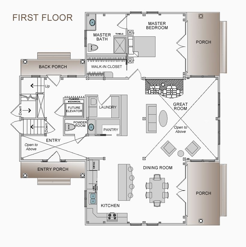 Coastal Cottage Floor Plan Post And Beam Home Plan 3 Bedroom Cottage Floor Plans Floor Plans Post And Beam