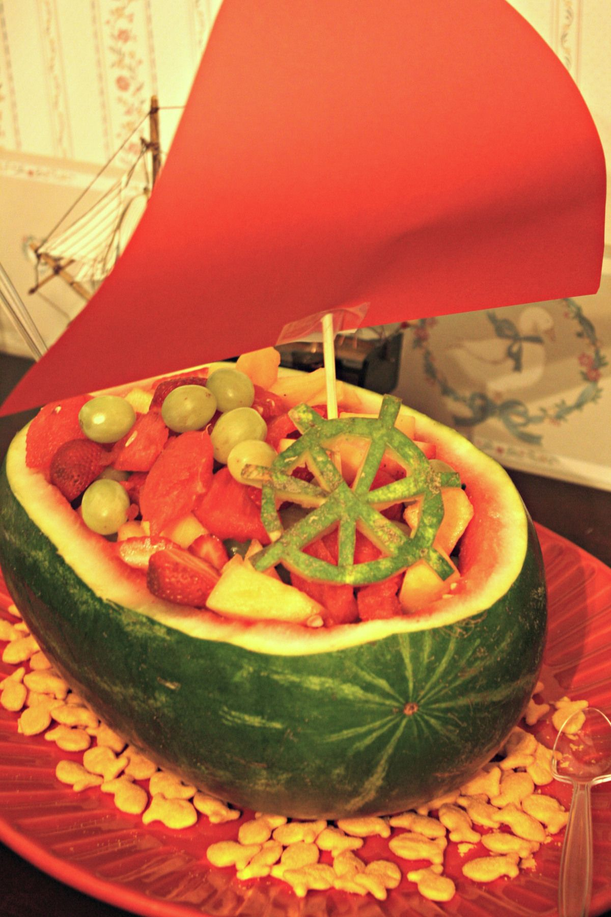 Watermelon Ship Fruit Bowl