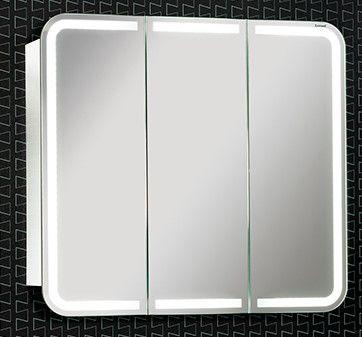 Lanzet Spiegelschrank 80 mit LED-Ring, Weiß Jetzt bestellen unter