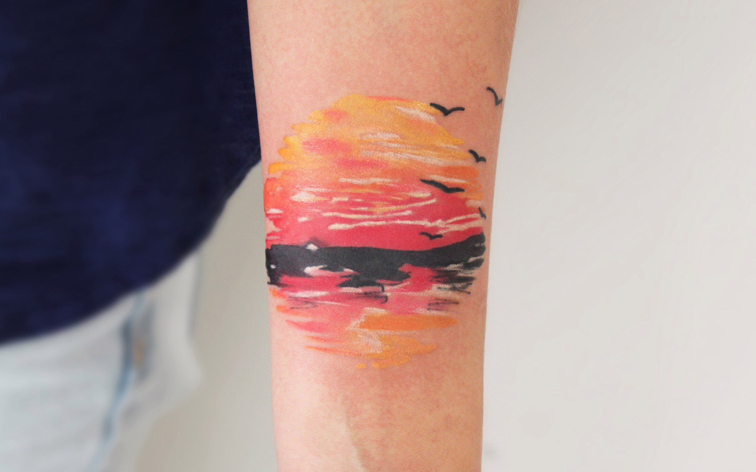 Sunset Tattoo Sunset Tattoos Pretty Tattoos Tattoo Designs