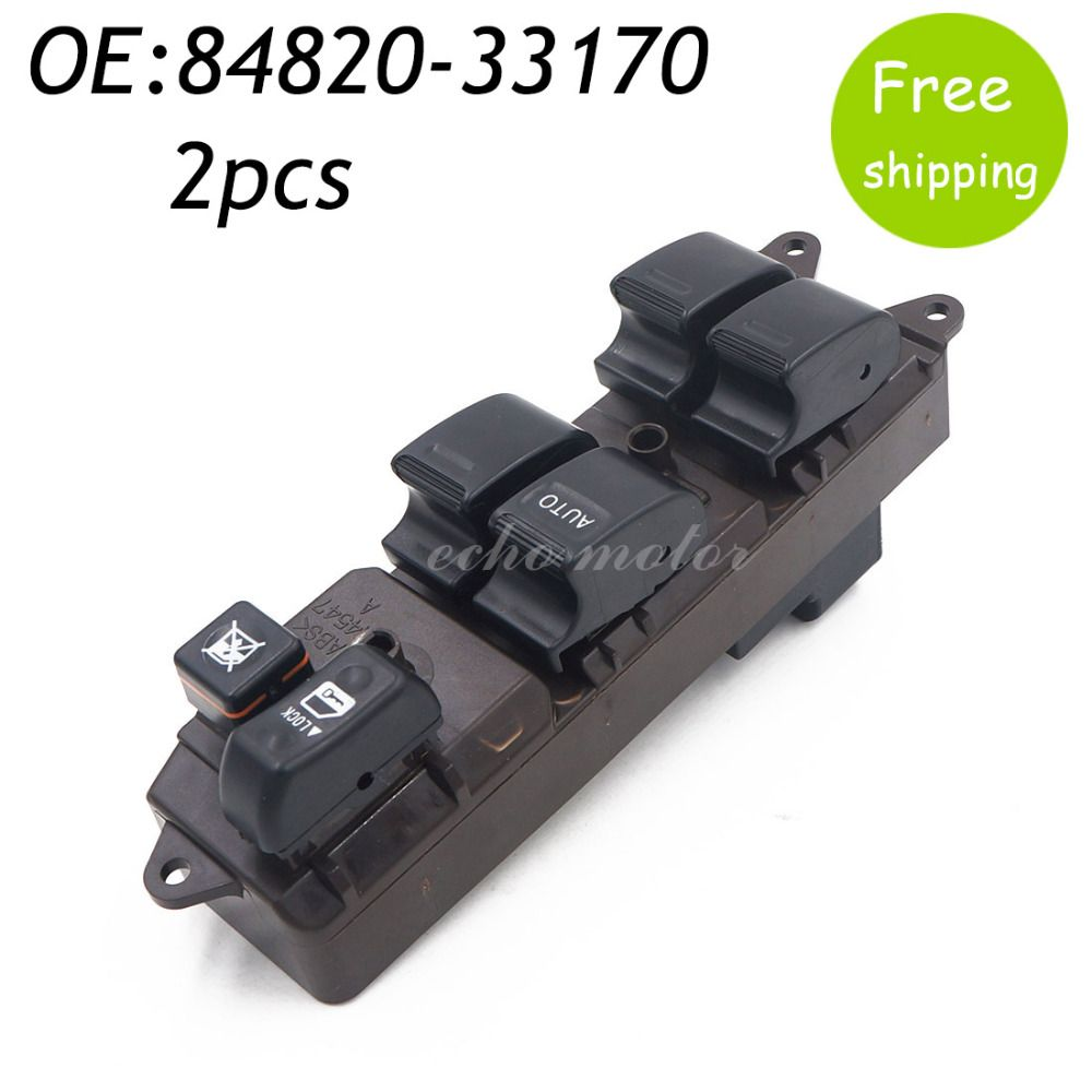 New 2pcs 84820 33170 8482033170 Power Master Control Window Switch For Toyota 2002 2006 Camry 2005 2009 Sienna 84820 01021 With Images Camry Window Master Camry 2005