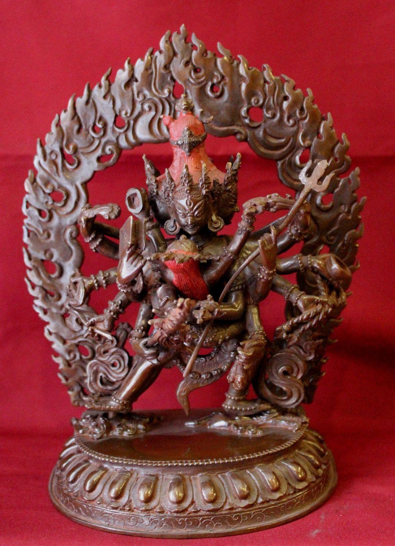 Chakrasambhara Statue Oxidized Tibetan Deity Handmade in Nepal by ShakyaHandicraft on Etsy
