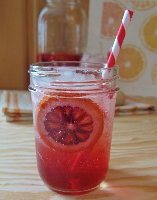 Blood Orange and Campari Sangria
