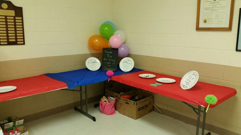 Table set up at the adoption party