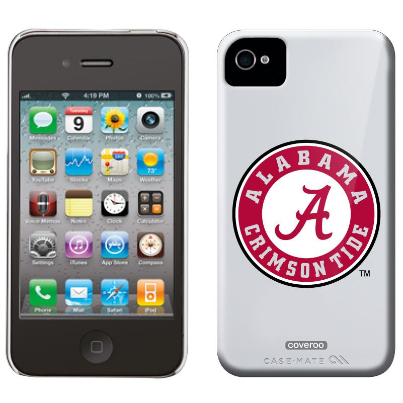 18554da6cd7 University of Alabama Crimson Tide Alabama design on iPhone 4   4S Snap-On  case from Case Mate in White