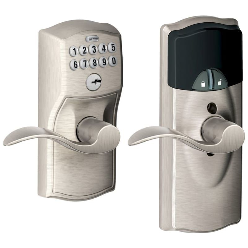 Schlage Fe599nxcam Acc Home Keypad Lever With Z Wave Technology