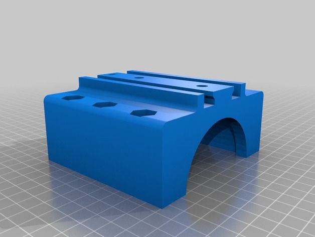 Mostly Printed CNC Quick Tool Mount by ksjoberg