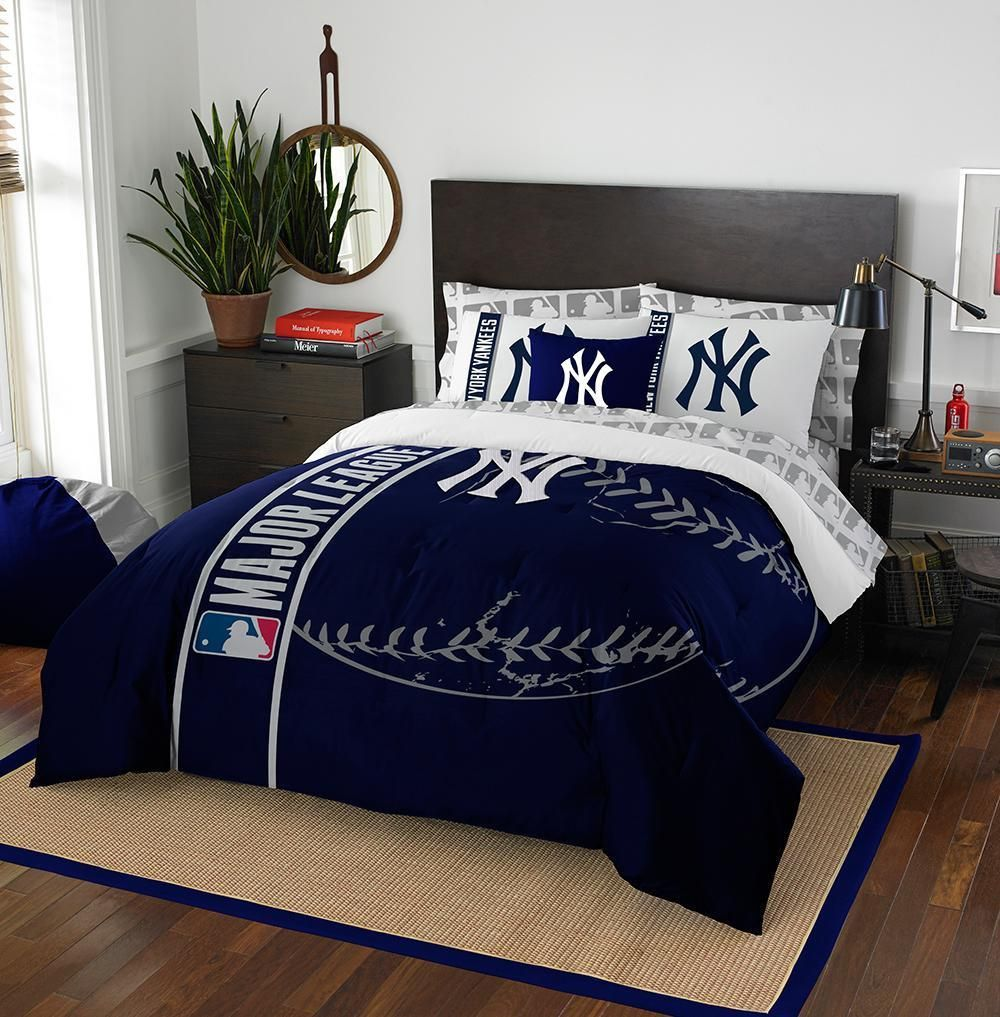 New York Yankees Mlb Full Comforter Bed In A Bag Soft Cozy 76in X 86in Comforter Sets Full Comforter Sets