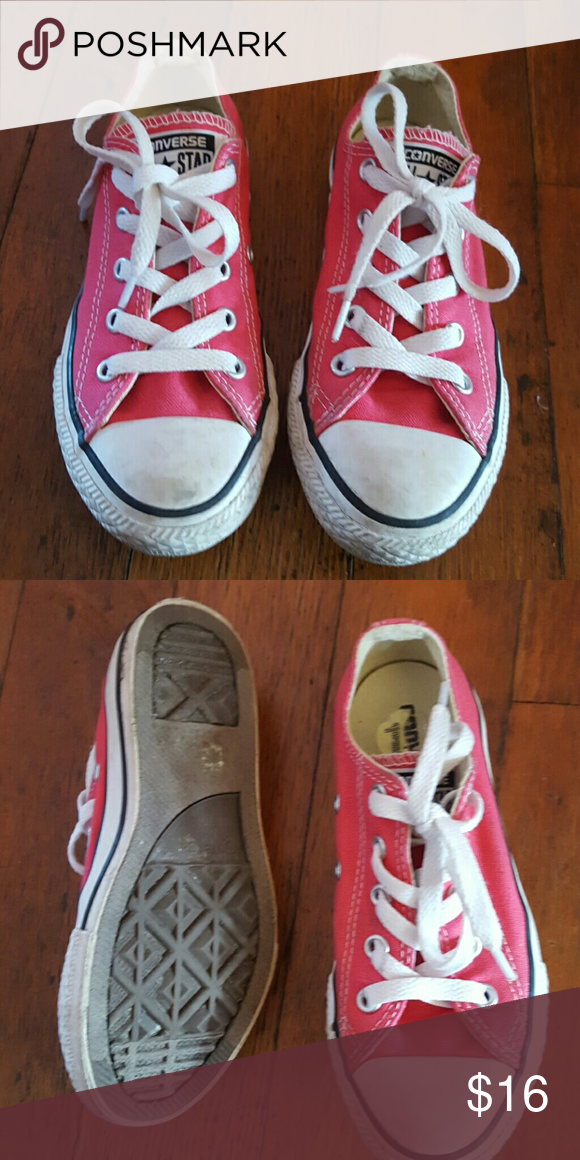 321c2b40ee44 Girls converse Pink converse lightly used Converse Shoes Sneakers ...