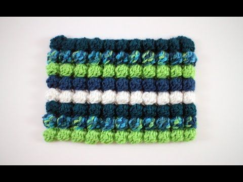 Noppen haken / Crochet Bobble Stitch / Noppen Häkeln - YouTube ...