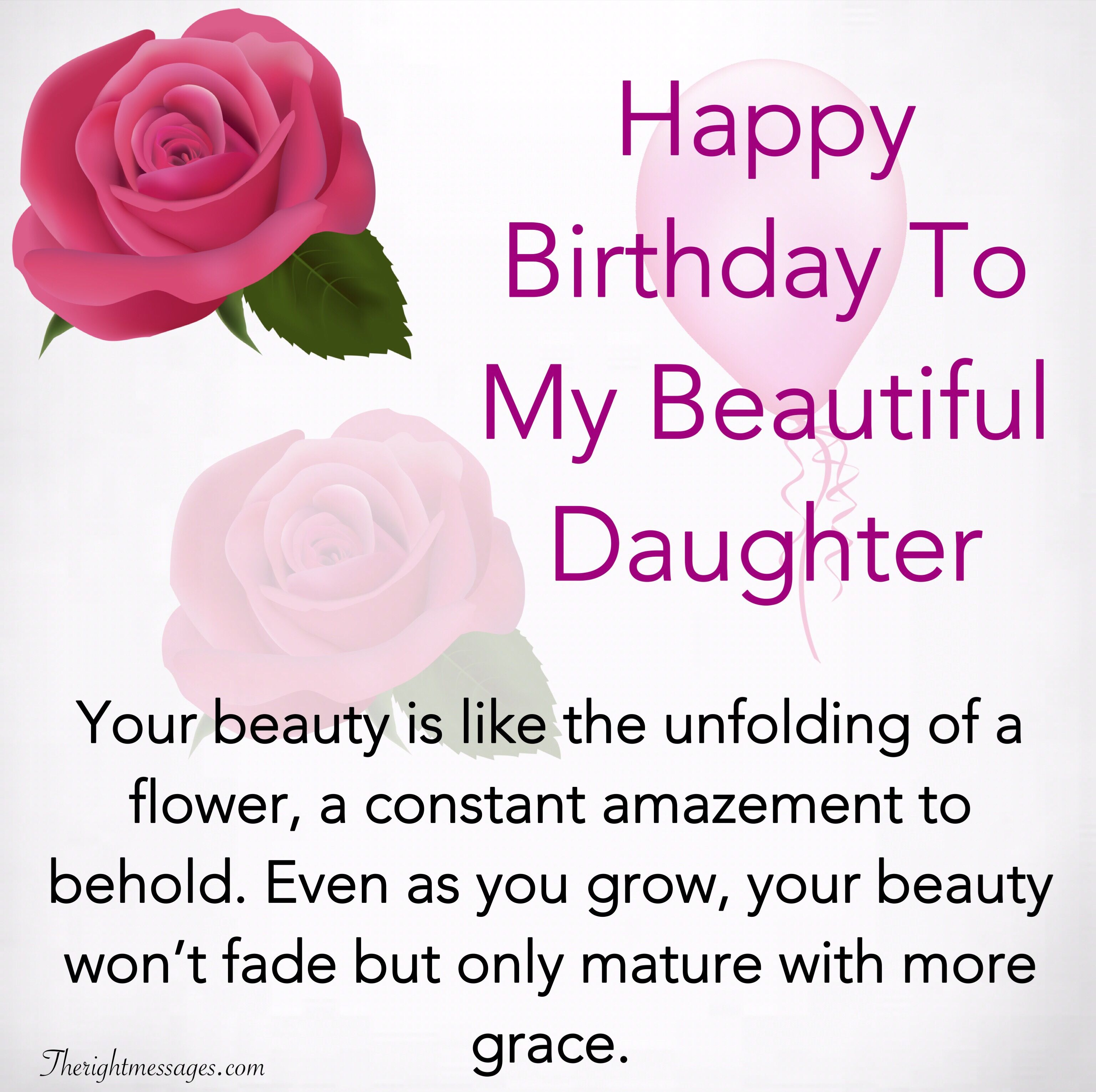 Happy Birthday Wishes For Daughter Inspirational