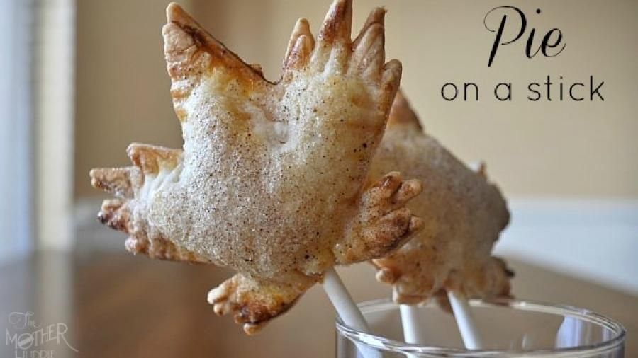 Nothing says creative like a pie on a stick! (Photo courtesy of themotherhuddle.com)