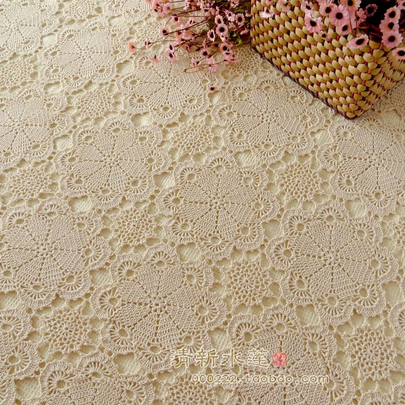 الشحن مجانا غطاء الطاولة الدانتيل هوك إبرة الكروشيه اليدوية 100 غطاء السرير الأزياء الفاخرة Cutou الستار البي Lace Tablecloth Cotton Bedding Damask Curtains