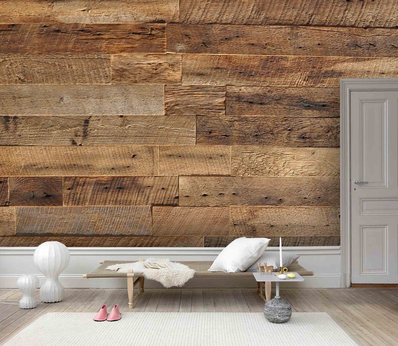 3d Dry Wood Texture Wallpaper Removable Self Adhesive Etsy Textured Wallpaper Peel And Stick Wood Wood Plank Wallpaper