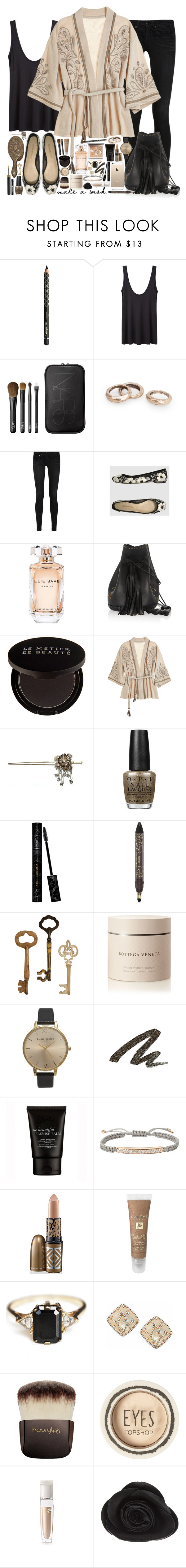 """""""make a wish"""" by chrylou ❤ liked on Polyvore featuring Gorgeous Cosmetics, The Row, NARS Cosmetics, MANGO, R13, Emporio Armani, Elie Saab, Wendy Nichol, Le Métier de Beauté and Calypso St. Barth"""