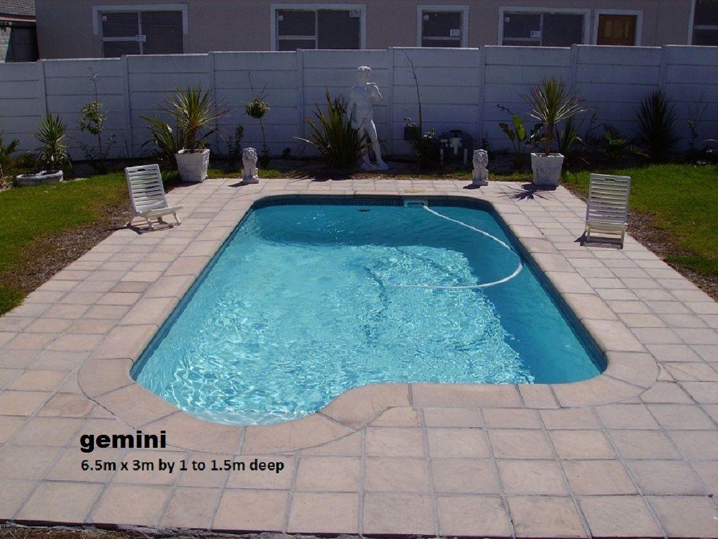 gemini 6 5x3m by 1 to 1 5m deep fiberglass swimming pool c w inlet