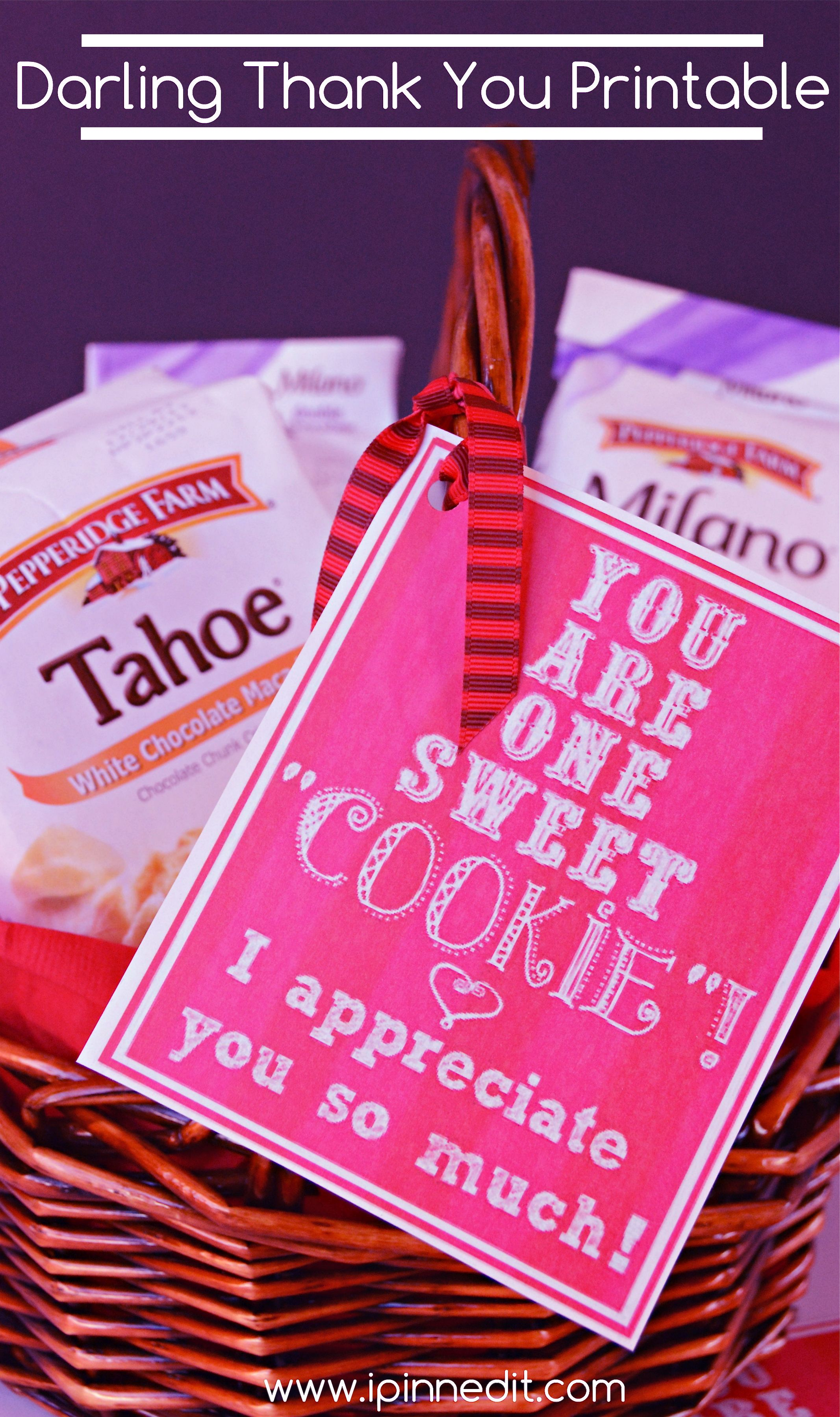 A very sweet and yummy thank you gift idea using cookies free a very sweet and yummy thank you gift idea using cookies free printable negle Image collections