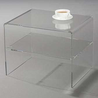 Acrylic Side Table 38 Cm Clear