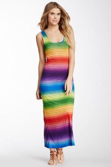 6836106a94 Rainbow Stripe Maxi Dress