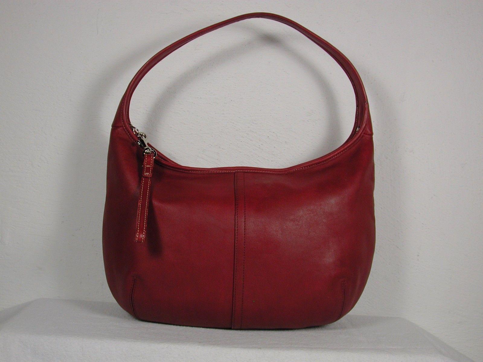red coach purse bathroom ergo hobo pin vanities bag vintage leather ebay