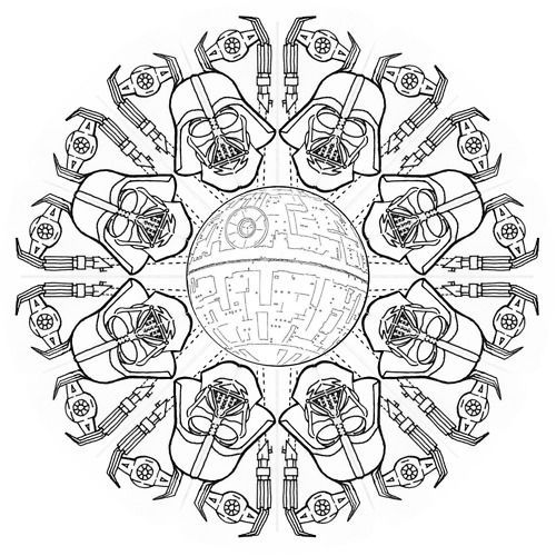 star wars mandala google search star wars programs mandala tattoo star wars coloring. Black Bedroom Furniture Sets. Home Design Ideas