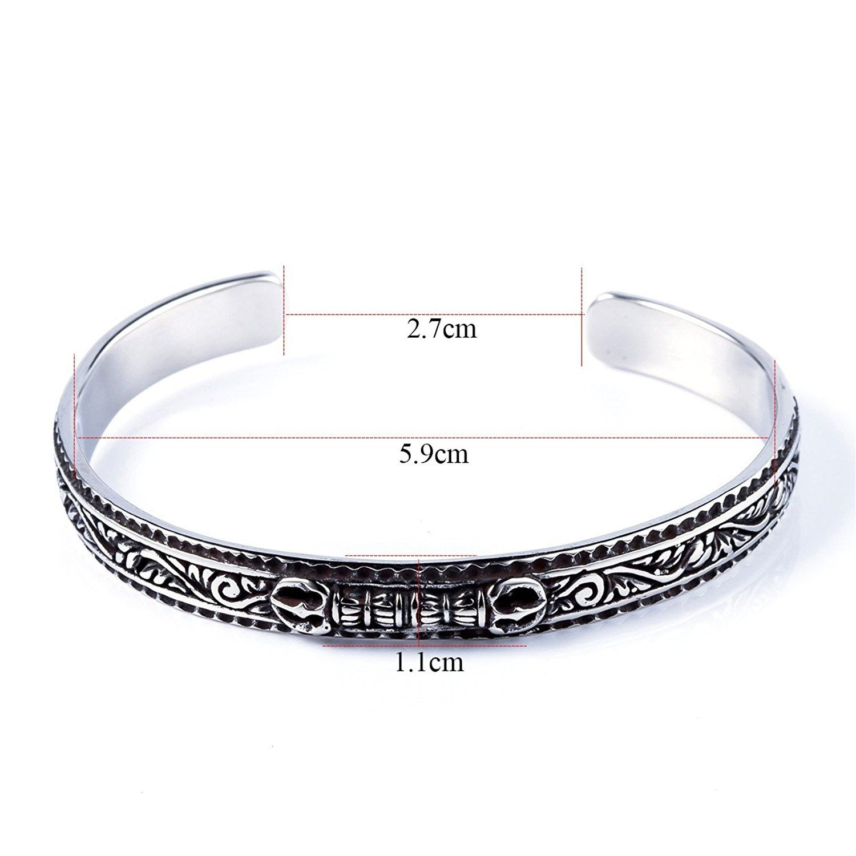 Vintage cuff bracelets men jewelry handmade stainless steel women