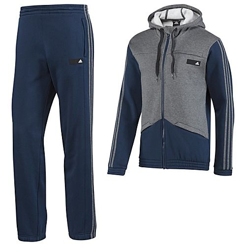 adidas Hooded Jogger Track Suit | Jogging attire, Tracksuit