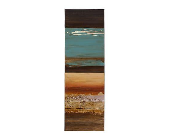 Pintura sobre lienzo de resina Chico - 40x120 cm