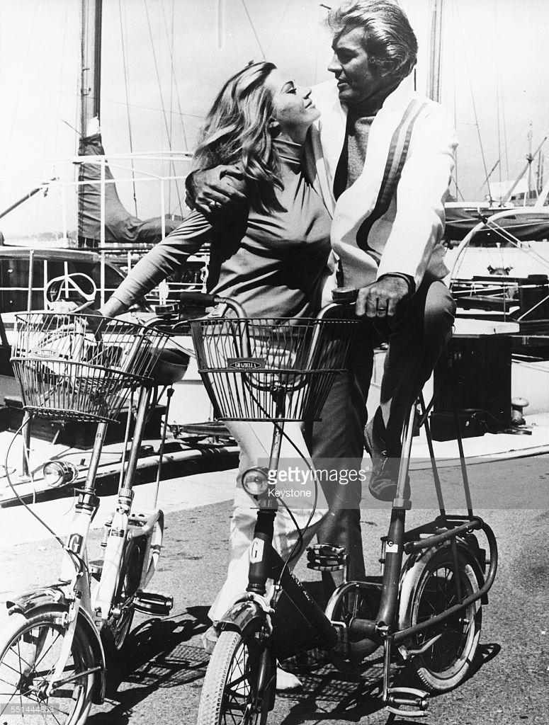 Actress Anita Ekberg And Her Husband Rik Van Nutter Preparing To