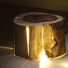 how to make a cracked log lamp