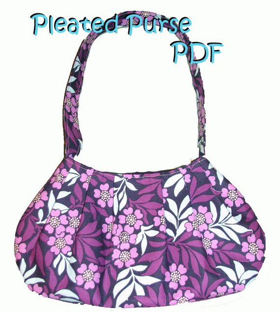 Pleated Purse sewing PDF - 2.99$