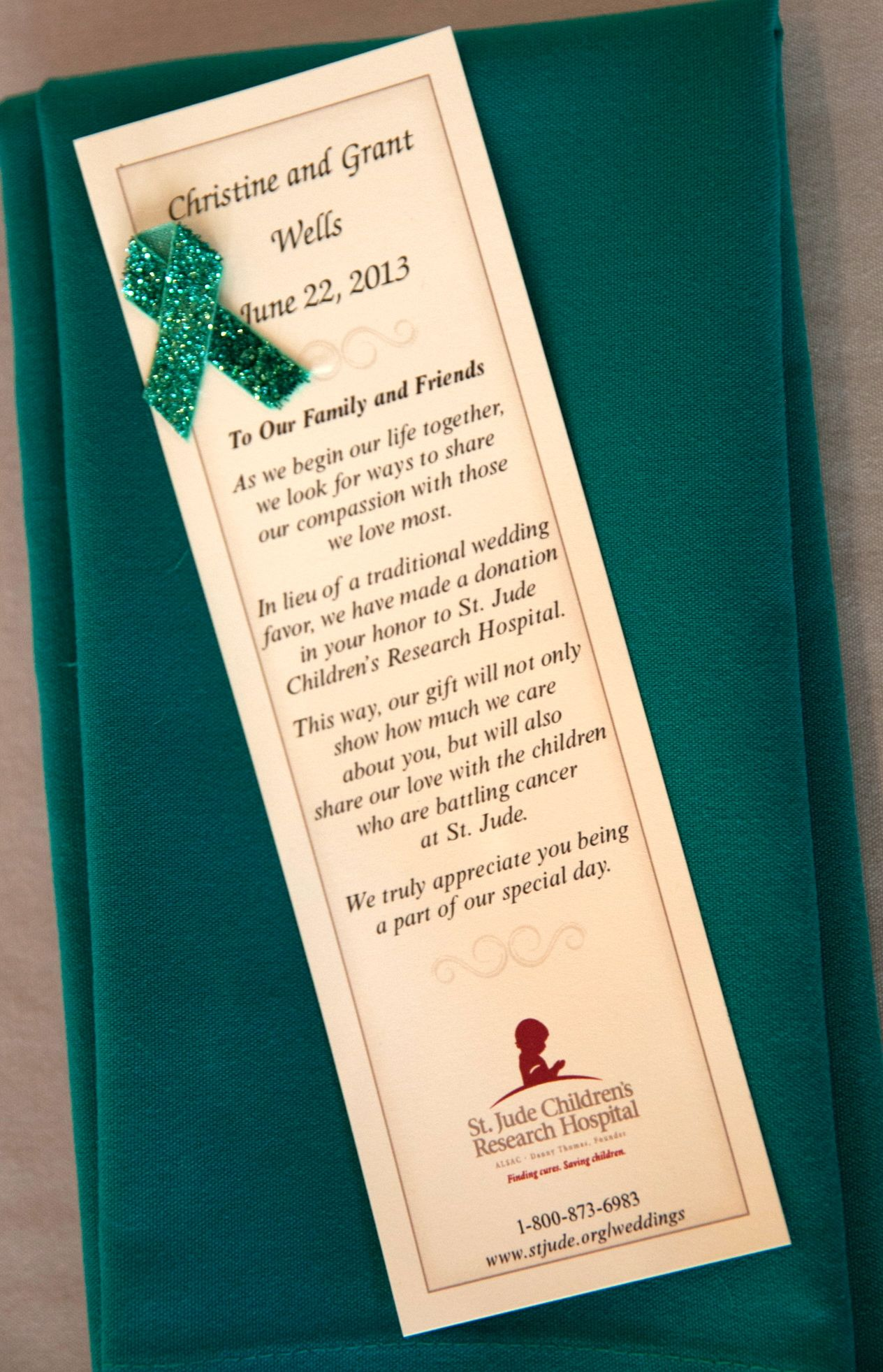 Donate To St Jude Childrens As Your Wedding Favors Favs