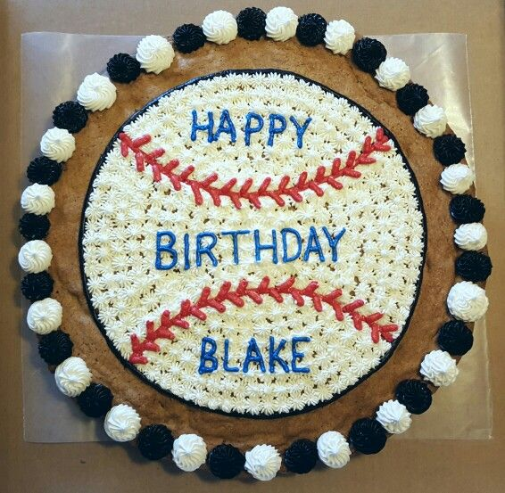 Baseball Cookie Cake Boy Birthday Cake Decorating With Images