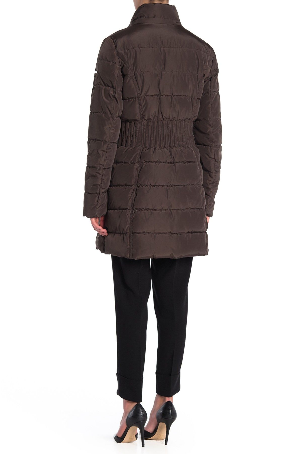 Laundry By Shelli Segal Faux Fur Trimmed Hooded Fitted Parka