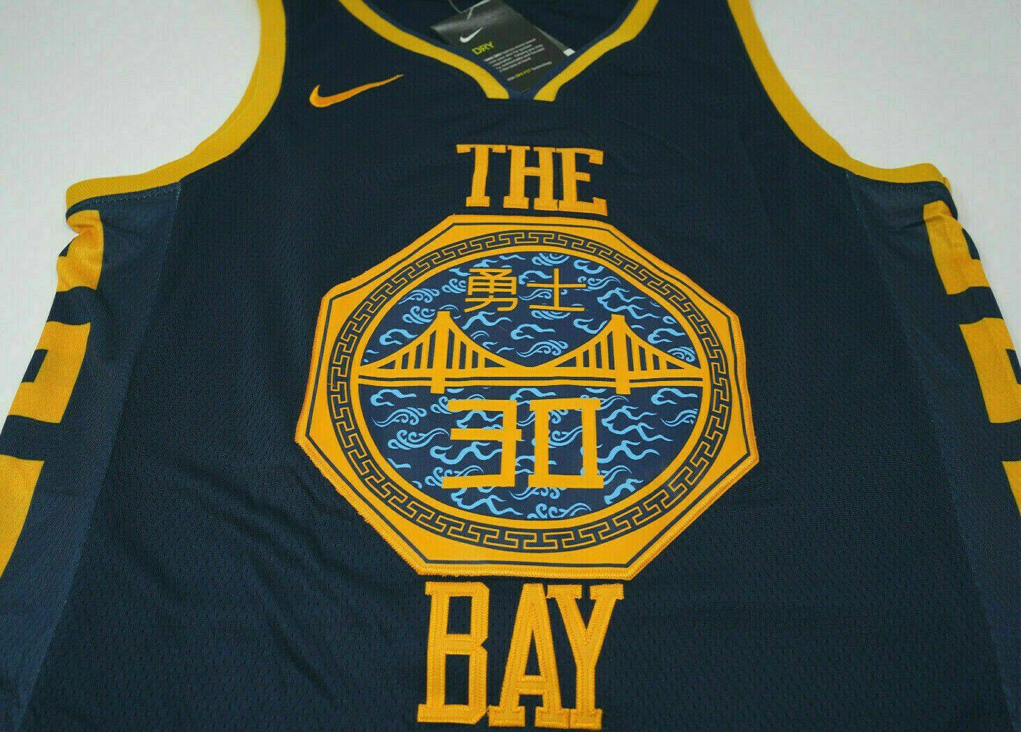 finest selection 3c316 e2788 Stephen Curry #30 Golden State Warriors Men's Navy The Bay ...