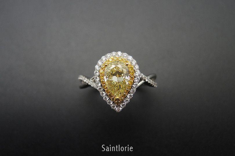 1 Carat Yellow Diamond Engagement Ring