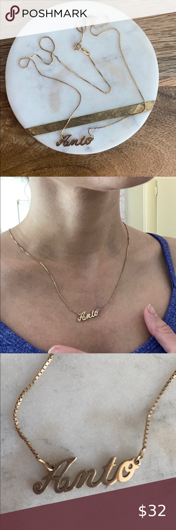 Gold Name Plate Necklace In 2020 Womens Jewelry Necklace 10k Gold Chain Plate Necklace