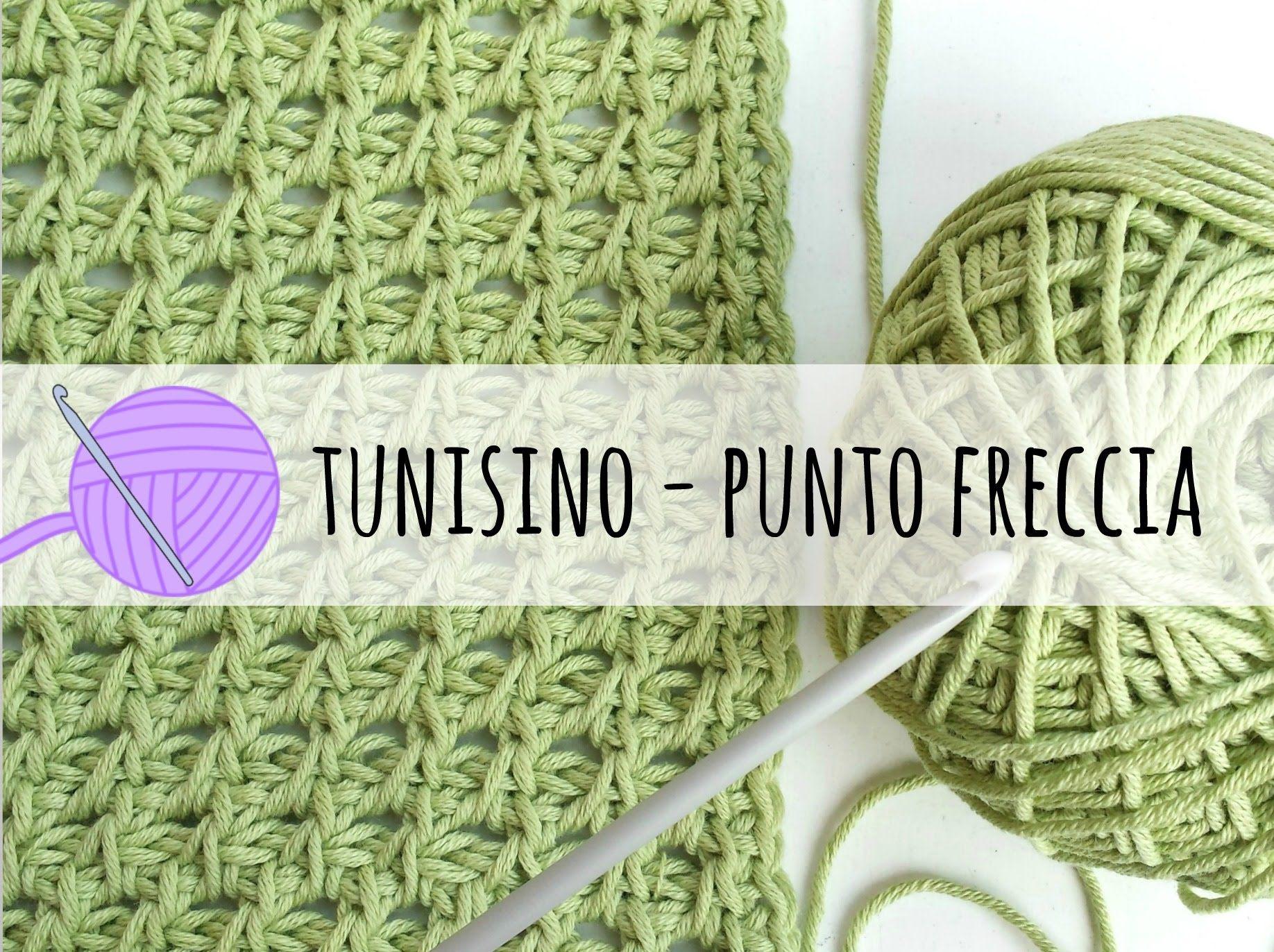 Tutorial Uncinetto Tunisino Punto Freccia Crochet Pinterest