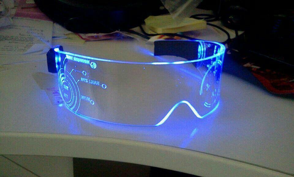 Cyber glass tecnologia futurista gadgets