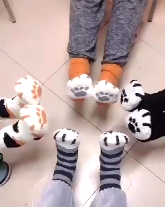 Photo of Cute Cat Claws Thick Warm Socks