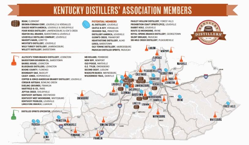 map craft bourbon trail Yahoo Image Search Results Summer