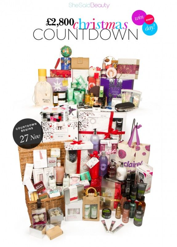 For anyone in the UK.. Enter the She Said Beauty  £2800 Christmas Countdown