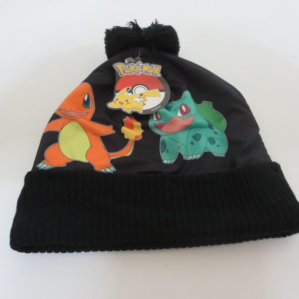 c2495dcdf02 New Nintedo Pokemon Pikachu Charizard Winter HAT Black Beanie Cosplay Cap   BioworldOfficiallyLicensed  Beanie