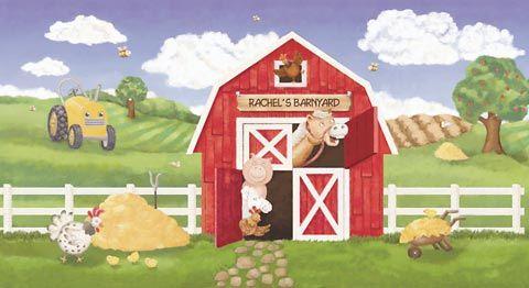 Farmyard Wall Mural Animals Photo Wallpaper Kids Bedroom Nursery Home Decor