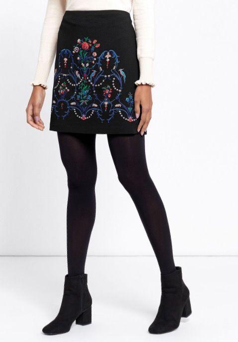 Oasis Warner Embroidered Skirt £50