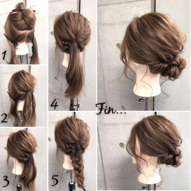 簡単ヘアアレンジ くるりんぱ をマスターして普段も結婚式も髪