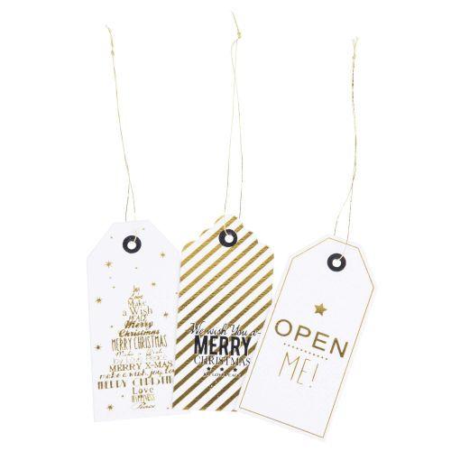 12 étiquettes cadeaux en carton ...