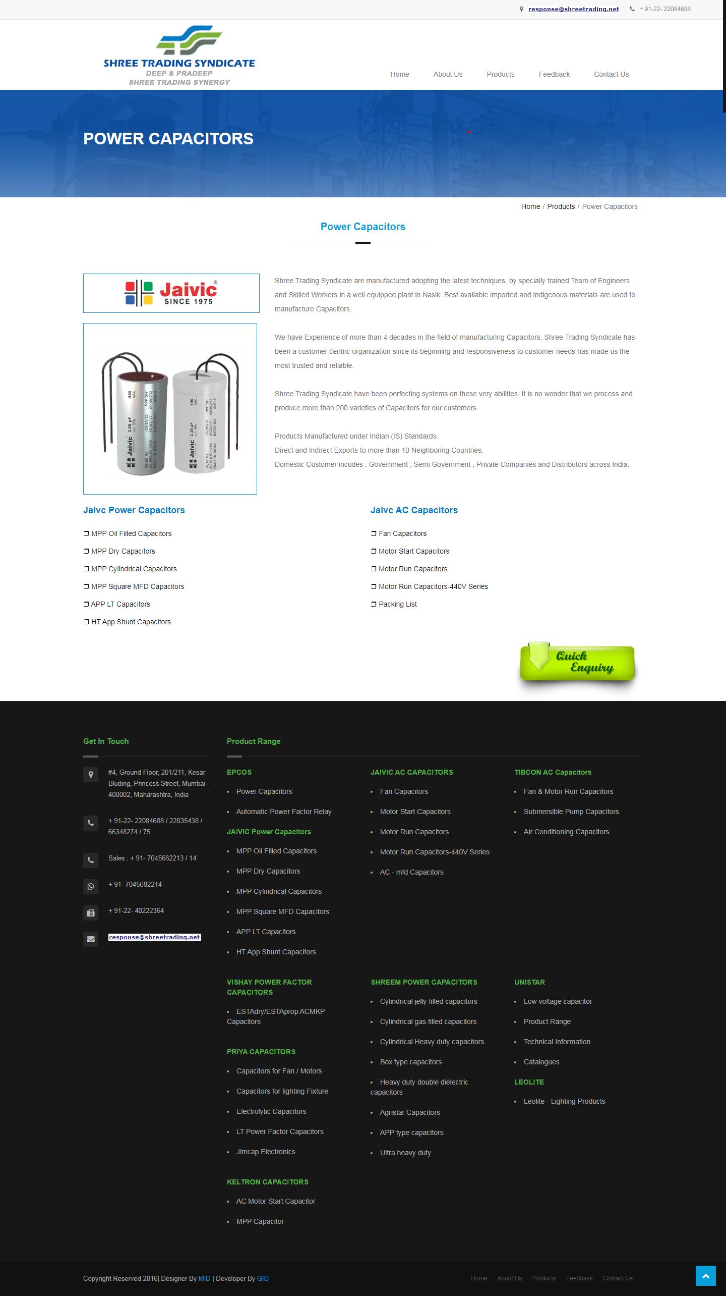 Jaivic Power Capacitor Jaivic Ac Capacitors Ht App Shunt Capacitor Mumbai India Capacitors Ac Capacitor Capacitor