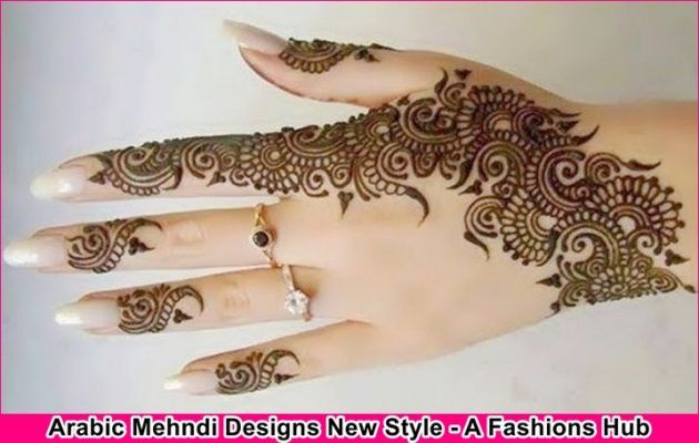 Mehndi Designs Latest New Style : Arabic mehndi designs new style for girls