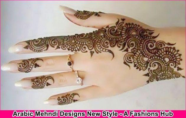 Henna Mehndi New Design : Arabic mehndi designs new style for girls